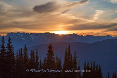 Warm Mountain Sunset