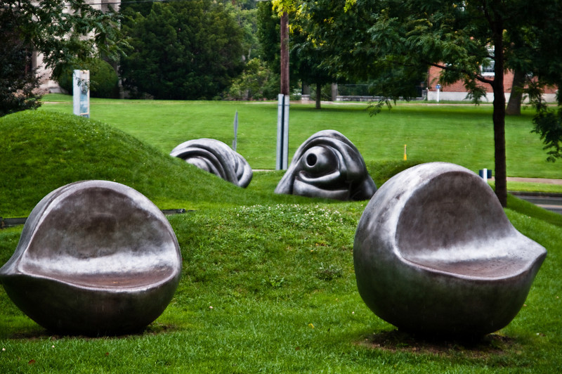 Louise Bouguois Eye sculptures at Williamstown College Museum of Art