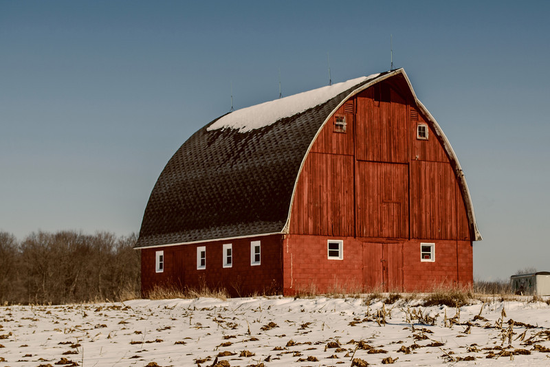Wisconsin Rural. Red Barn.