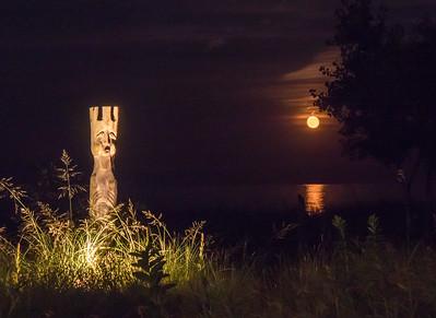 Neptune at moonrise