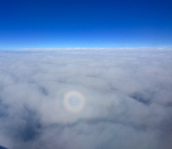 round rainbow in the clouds