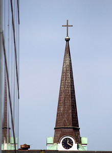 downtown church steeple