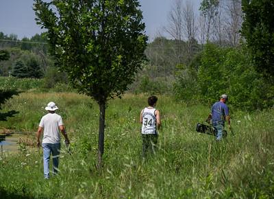 Steve, Owen and Jim at Jim's land