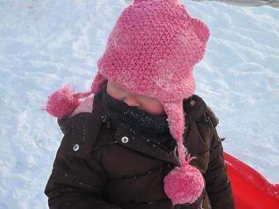 Amelia sledding