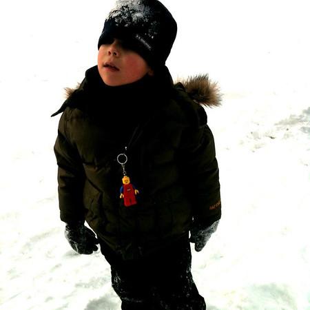Quinn sledding