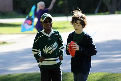 Luke+Owen playing football