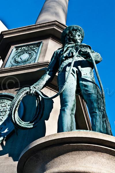 Sailer on Common Statue