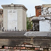 Above ground tombs located in the St. Louis Cemetery #1 on Basin Street in New Orleans.