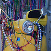 A scooter draped with beads in the Marigny/Bywater district, New Orleans.