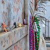 Offerings from followers of the voodoo culture attached to the reputed tomb of Marie Laveau in the St. Louis Cemetery #1, New Orleans.
