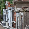 A row of above ground tombs located in St. Louis Cemetery #1, New Orleans.