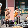 Street performing band on Royal Street in the French Quarter, New Orleans.