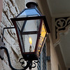 A gas lamp on the streets of New Orleans in the French Quarter.