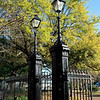 The wrought iron entrance gates to Jackson Square in New Orleans.