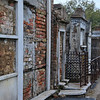 Decaying tombs in the St. Louis Cemetery #1, New Orleans.