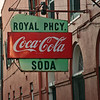 Some streets in the French Quarter are a step back in time.  Here is an old building which houses a pharmacy.