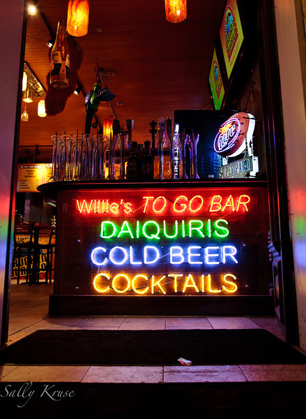 Willie's TO GO Bar.  Cocktails conveniently located mere inches from the Bourbon Street  sidewalk.