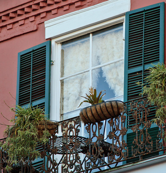 Feather curtains in New Orleans