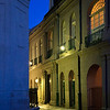 Daybreak in New Orleans. Pirate Alley near St Louis Cathedral