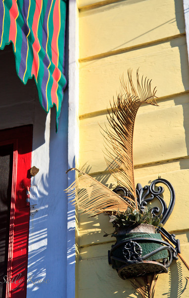 A decorative touch outside the entrance to a home in the Marigny/Bywater district, New Orleans.