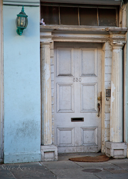 Just a door.  This one leads to an apartment on Royal Street in the French Quarter, New Orleans.