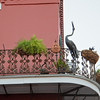 Wrought iron balcony  in New Orleans