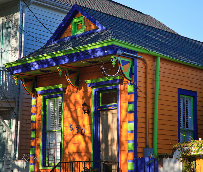 A paint job to catch your attention in the Marigny/Bywater district, New Orleans.