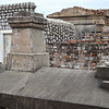 Several above ground tombs in St Louis Cemetery #1 in New Orleans.