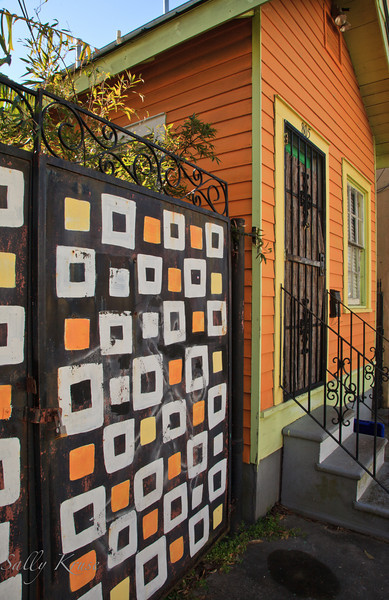 A colorful home located in the Marigny/Bywater district, New Orleans.