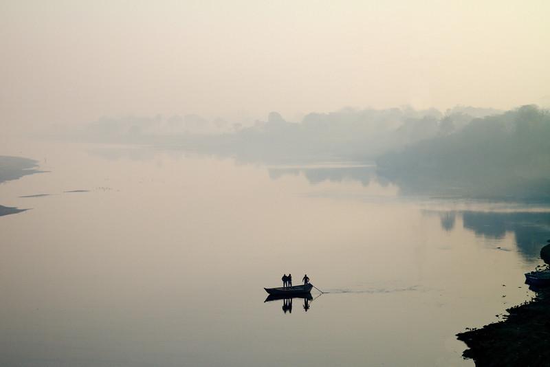 Yamuna River, North of the Taj Mahal