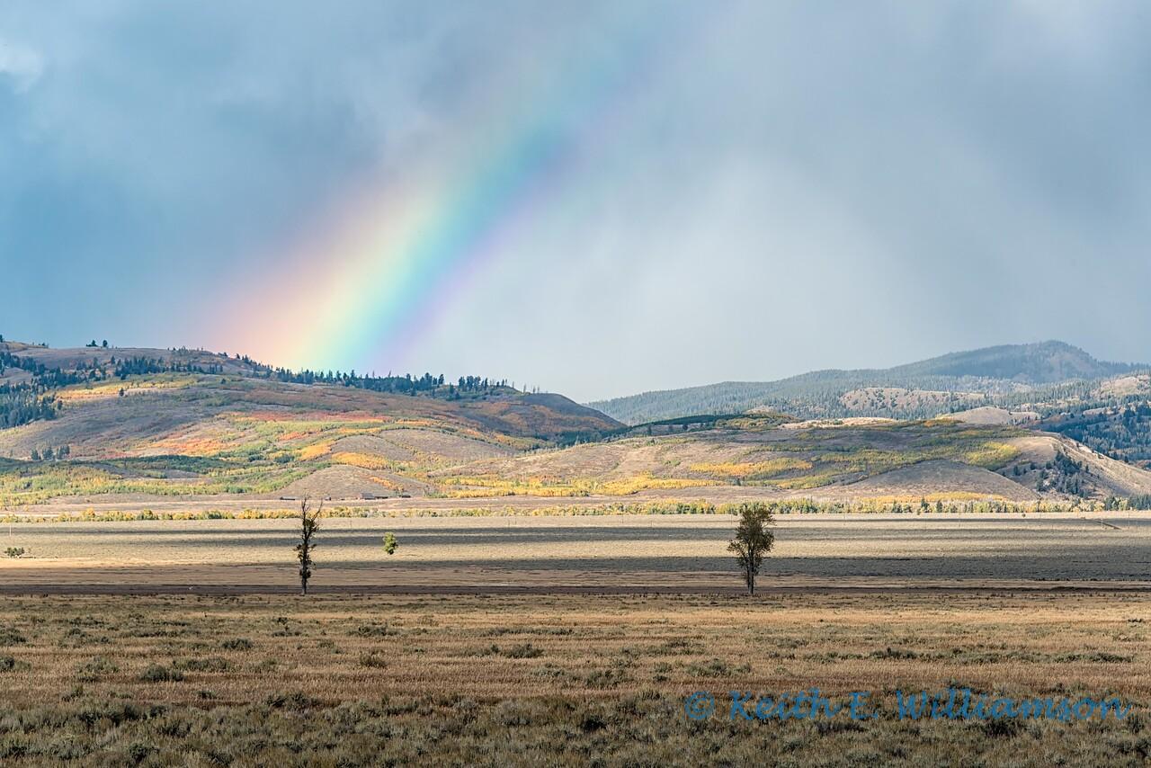 Rainbow over Morman Row, Grand Teton NP