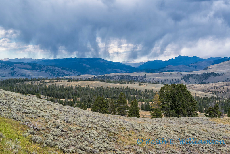 Rain over Yellowstone NP