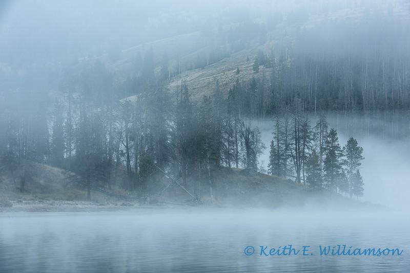 Lifting fog, Green River Lake, Wyoming