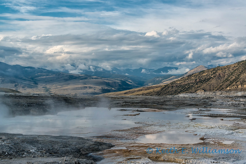 Mammoth Hot Springs, upper terraces, Yellowstone NP
