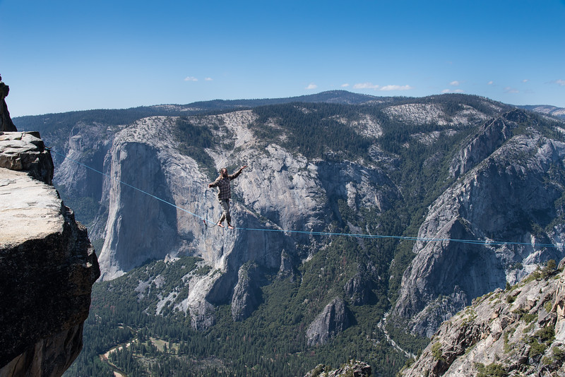 Tight rope walker at Taft Point