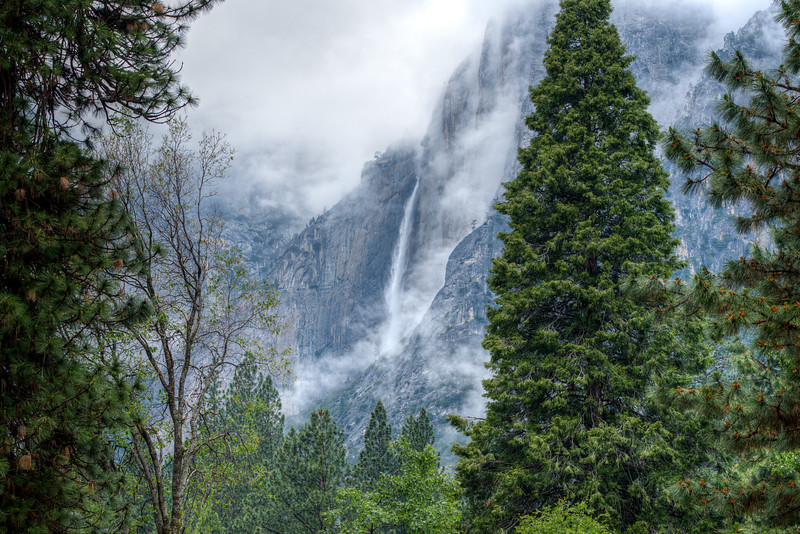 Yosemite Falls from Ahwahnee Hotel