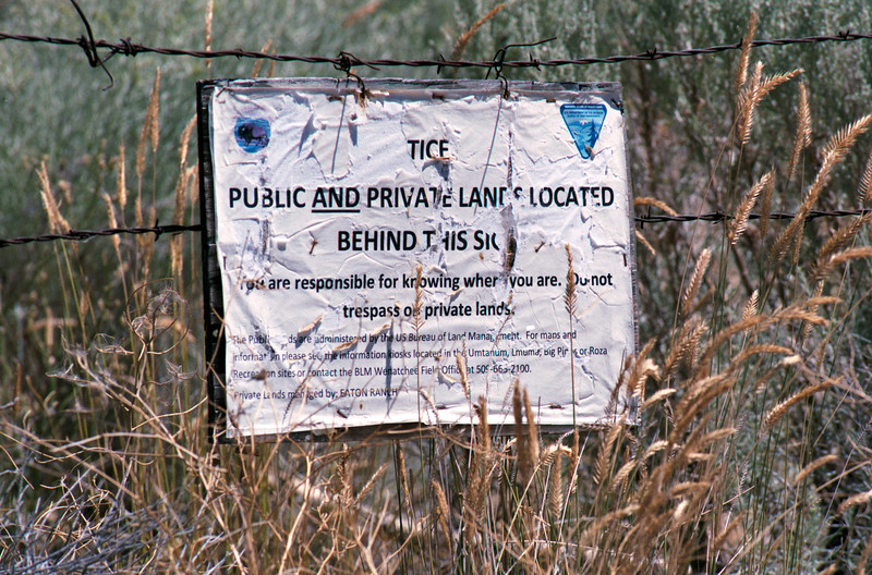 Public and Prvate Lands Located Behind This Sign