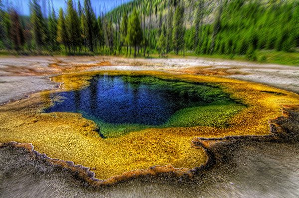 "The Well of FortuneBy: James A. B.  But I urge you!Do Not Jump InI hear that the waters in Yellowstone National Park could literally burn flesh and in there long enough, could burn to the bone, YIKERS!And That's Nature! Wow, what a world we are on, what an Earth that provides Life.  How magnificent! How Marvelous!  It always takes me back to an amazement of its Creator!  Just Astonishing.They say that Yellowstone is the birthplace of the biggest volcano on earth, and how ironic, it is one of the biggest National Park attractions, we are risking our lives on every visit.  They all say that it will blow any minute!  And with the power to potentially wipe out the whole earth! Whoa!I think I'm watching too much Nature Channel.But be prepared, there are reasons they have government officials there daily, doing ""tests"" ... yikers numero dose   - Read More on my Photo Blog: Raining Dreams- Or if you're Facebook Happy: My Facebook Page- Or if you're Google Savvy: My Google+ Page"