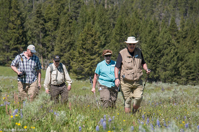 Matt Joyce, Keene Haywood, Rita Joyce & Burt Joyce  Hiking the Grand Canyon of Yellowstone 7/9/13