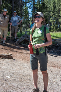 Kerry Tiedeman, Expedition Leader  Hiking the Grand Canyon of Yellowstone 7/9/13