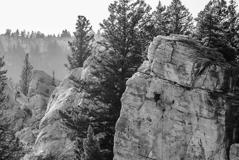 Rock Climber, Yellowstone National Park