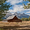Mormon Row barn & tetons
