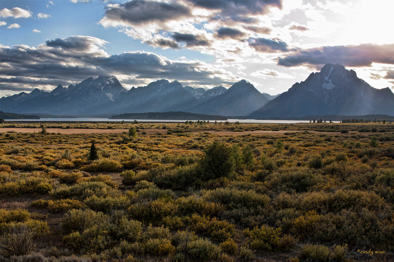 low light on tetons