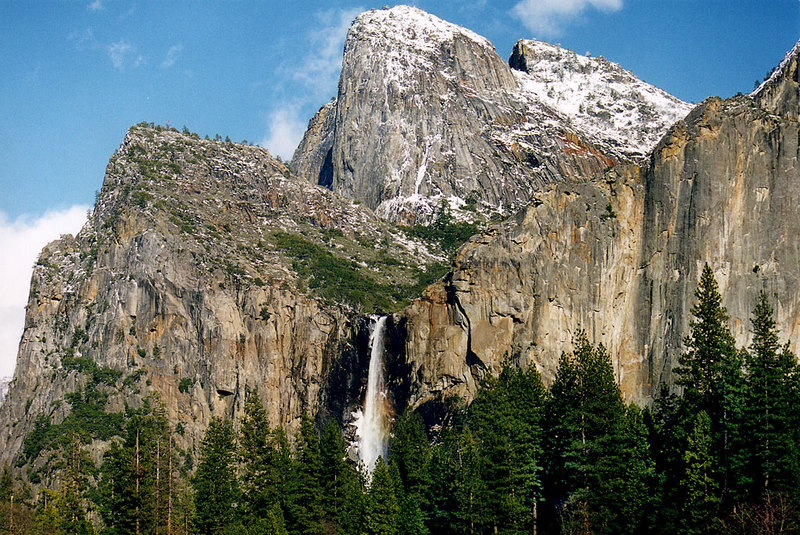 Bridalveil Falls, Yosemite National Park.  <br /> <br /> Photo by John P. Sarcone