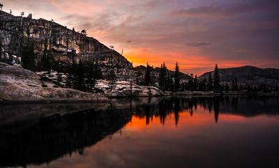 Yosemite Backpacking Lake Sunset