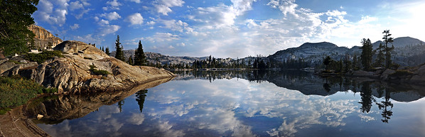 Yosemite Mountains Morning Reflection