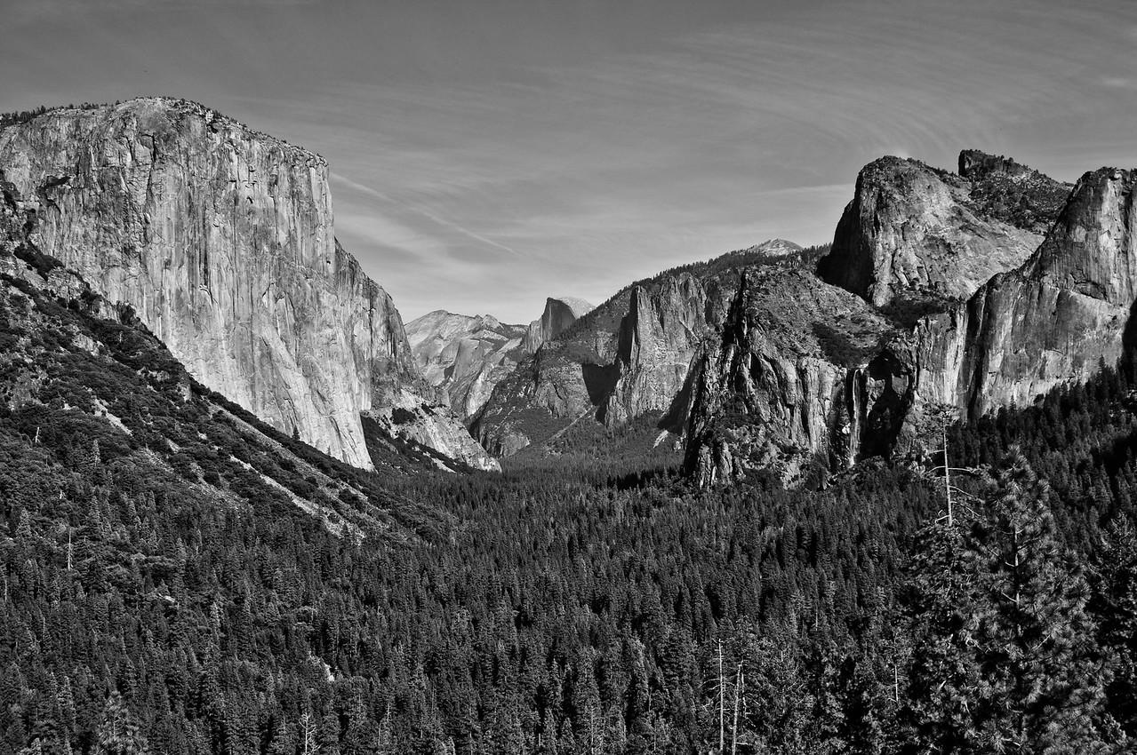 Yosemite Valley Black & White