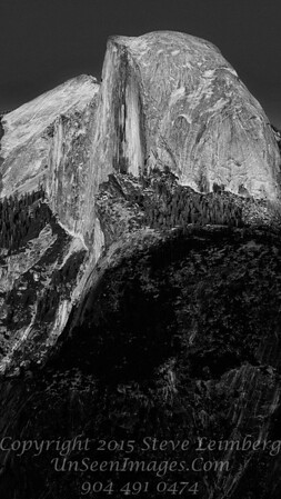 Half Dome From Glacier Point - B&W Copyright 2015 Steve Leimberg - UnSeenImages Com _Z2A4002