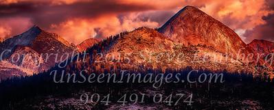 Mountain Range at Sunset - Copyright 2015 Steve Leimberg - UnSeenImages Com _Z2A4052