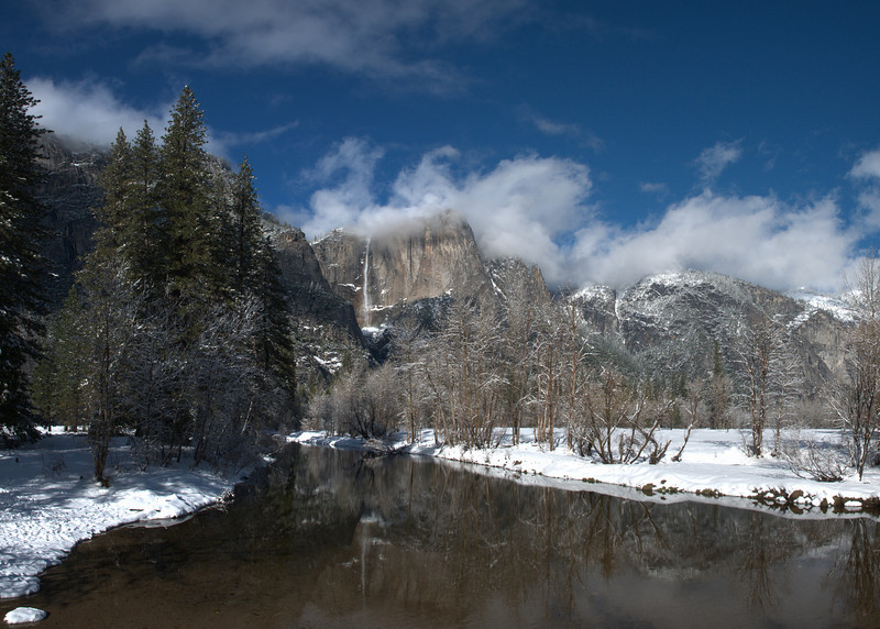 Yosemite Falls<br /> Yosemite National Park<br /> (Stitched Panorama)